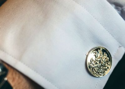 Gold cuff links 3D engraved with Coat of Arms