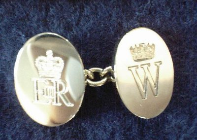 Cuff links engraved with royal crest for P;C;W;H