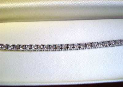 Diamond piano bracelet