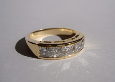 Gold and diamond 50 year wedding anniversary eternity ring