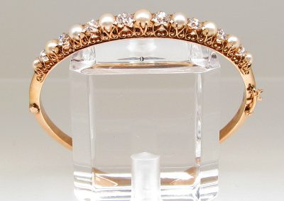 Gold and pearl wedding cuff