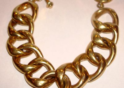 Silver link bracelet gold plated for special occasion