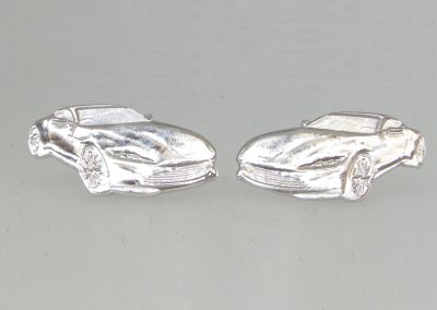 Sterling silver Aston Martin cuff links for James Bond launch