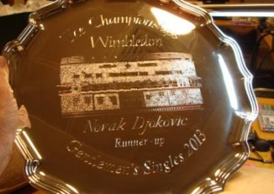 Wimbledon Runner's Up Salver 2013 presented to Novak Djokovic