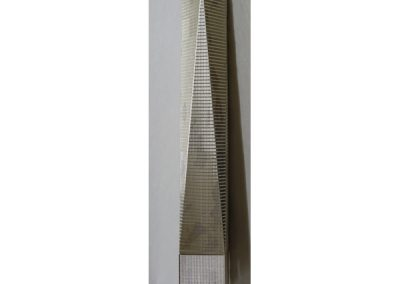 World Trade Centre, NY, NY, in sterling silver and engraved