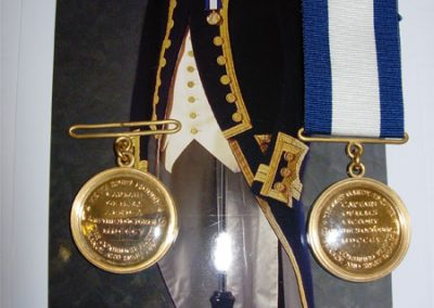 21  Gold-plated medals made in brass and recreated from originals and engraved for a  commemoration on Trafalgar Day 2015