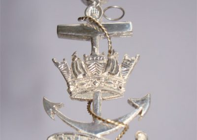 WRNS 60th birthday silver brooch for their president