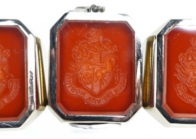 Carnelian coat of arms seal engraved signets